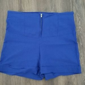 Blue stretchy shorts